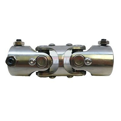 """Universal Stainless Steel Double Style Steering U-Joint 1"""" X 1"""" DD Chevy Hot Rod"""