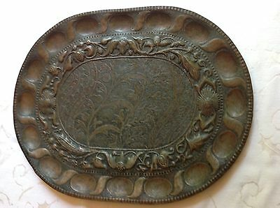 John Pearson 1891 Arts & Crafts Hammered Copper Tray