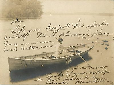 """""""This Speaks For Itself, Better Come"""", North Webster IN Indiana RPPC 1906"""