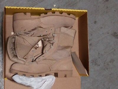 Desert Combat Boots Size Men's 8.5 R US Army Issue Gore-Tex Lined Belleville NEW