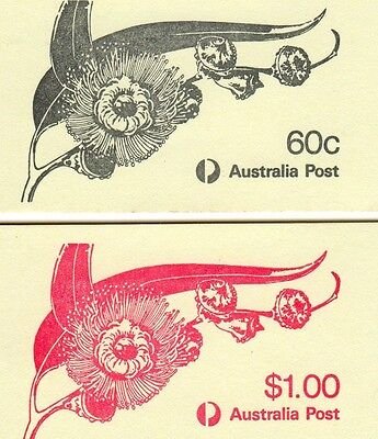 1982 AUSTRALIAN STAMP BOOKLETS 60c and $1 EUCALYPTS MUH