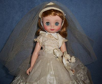 "Beautiful Vintage 1958 American Character 14"" Betsy McCall Bride Doll ~ Original"