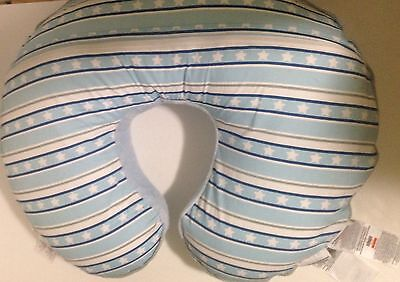 Boppy Pillow With Blue Star Cover