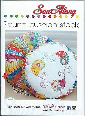 """ Round Cushion Stack ""- one pieced & one applique cushion PATTERN ONLY"