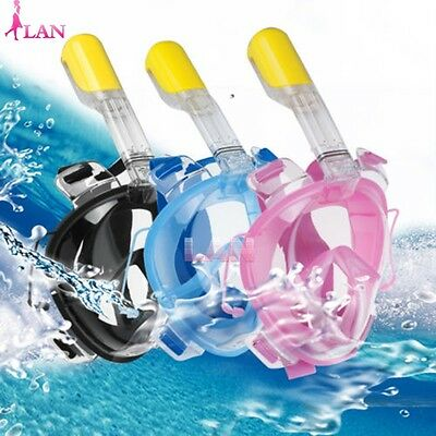 Swiming Diving Snorkeling Full Face Mask Surface Scuba for Gopro M/XL Adult Kids