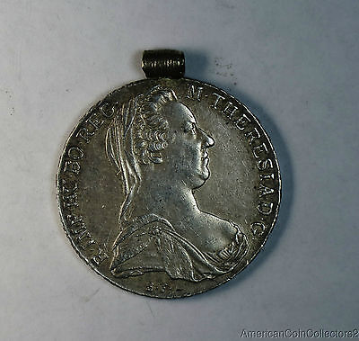 1780 Austria Maria Theresa Silver Thaler Pendant | Take A Look Coin Jewelry|6079