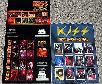 KISS 1974 to 1980 Photo Calendar Lot 1996 2003 2004 Clippings Pin Up Gene Ace
