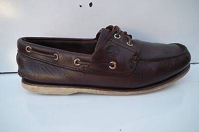 Timberland Boat Deck Mens Brown Genuine Leather Shoes Size UK 7