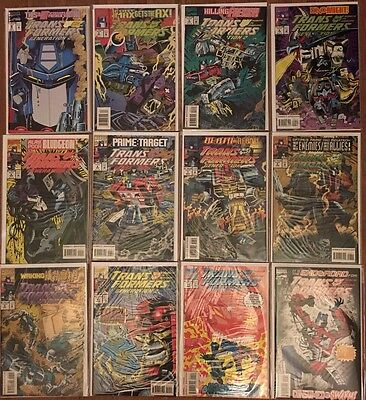 Transformers Generation 2 Marvel Comics Complete Set Issues 1-12 Rare HTF NM