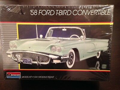 Monogram '58 Ford T-Bird Convertible model, factory sealed