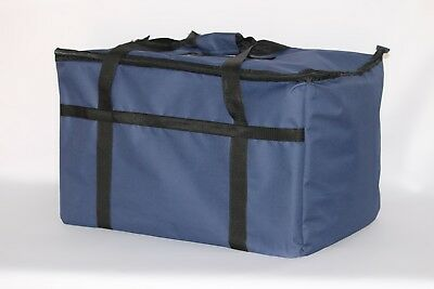 Blue Nylon Insulated Food Delivery Bag / Pan Carrier