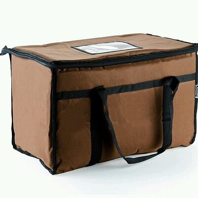 Brown Nylon Insulated Food Delivery Bag / Pan Carrier