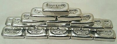 (20) 1 Troy Ounce .999 Fine Tin Bullion Bars - Hand Poured - Hand Stamped