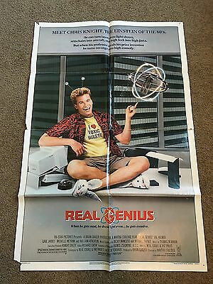 "1985 Real Genius Original 1 Sheet Movie Poster 27"" X 41"" - Estate"