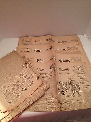 New York World 1894 1895 Nellie Bly Stories - 8 papers - Nice, Rare Find
