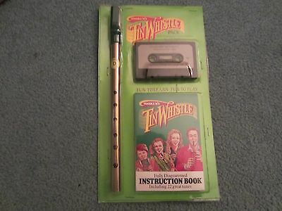 Irish Tin Whistle Penny Whistle Waltons New Vintage With Book & Cassette Key D