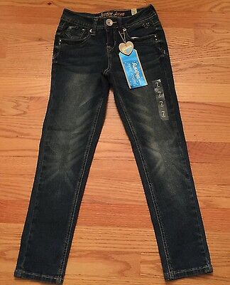 Girls JUSTICE Super Low & Skinny Jeans ~ New Size 7