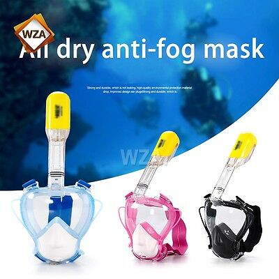 Kid Full Face Snorkeling Snorkel Mask Diving Goggles Breather Medical Silicone