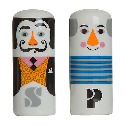 Omm Designs Modern Artists Salt And Pepper Pots, Measures 10 cm High, Ceramic