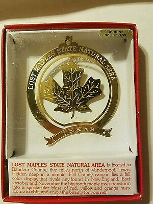 Lost Maples Vanderpool Texas  Brass Christmas Ornament