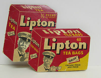 c. 1950's VINTAGE ADVERTISING LIPTON TEA BAGS NEEDLE BOOK W. GERMANY