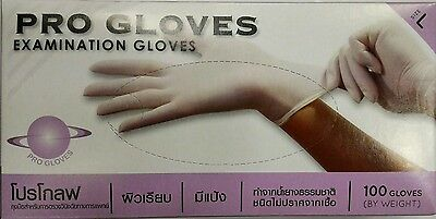 Disposable prepowder100% natural rubber latex glove Medical Lab Dental Cleaning