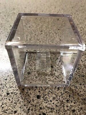 Clear Basic Ring Display Case 2 x 2 x 2 w/Mounted Clip - Championship - Personal