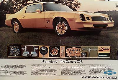 1978 Chevrolet Camaro Z28-Ad/picture/print 76 77 79 80 Rs 350 V8 Rally Wheels