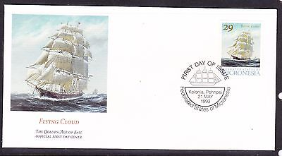 """Micronesia 1993 """"Flying Cloud"""" Sailing Ship -  First Day Cover."""