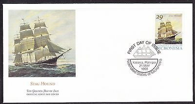 """Micronesia 1993 """"Stag Hound"""" - Sailing Ship -  First Day Cover."""