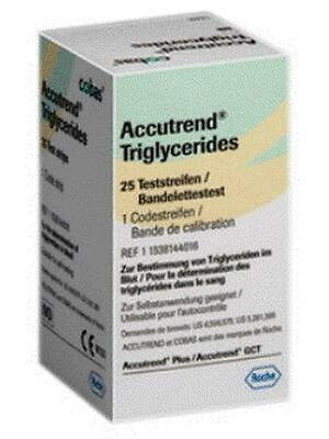 1 Box Accutrend Test Strips for Triglycerid 25 Strips, Free 15 Lancets,CHEAP!!!!