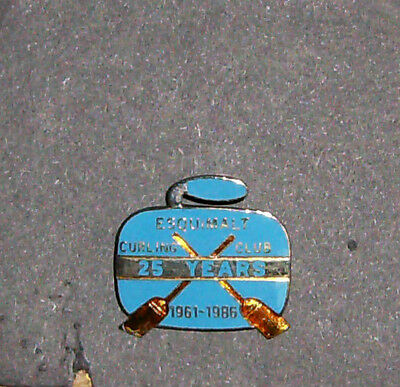 Rare Vintage Curling Pin - Esquimalt 25 Years 1961 - 1986