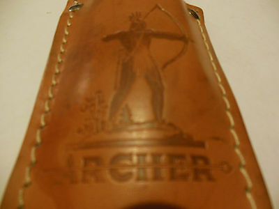 Vintage Archer Oil Co.advertising plier holster leather sheath Omaha Neb.