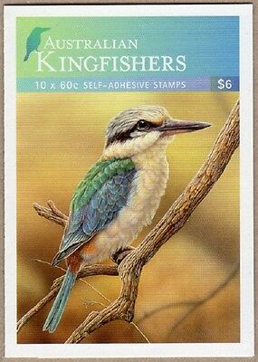 2010 STAMP BOOKLET AUSTRALIAN KINGFISHERS 10 x 60c STAMPS MUH