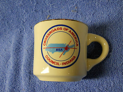 Vintage Bsa Boy Scouts Crossroads Of America Council-Indiana Porcelain Cup Mug