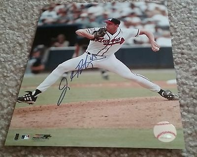 MLB BRAVES HOF JOHN ROCKER AUTOGRAPHED SIGNED 8x10 BASEBALL PHOTO COA JSA PSA