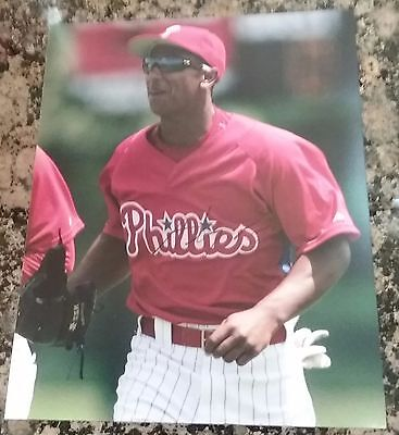 MLB PHILLIES ANTHONY GOOSE AUTOGRAPHED SIGNED 8x10 BASEBALL PHOTO COA JSA PSA