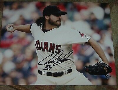 MLB HOF INDIANS CHRIS PEREZ AUTOGRAPHED SIGNED 8x10 BASEBALL PHOTO COA JSA PSA
