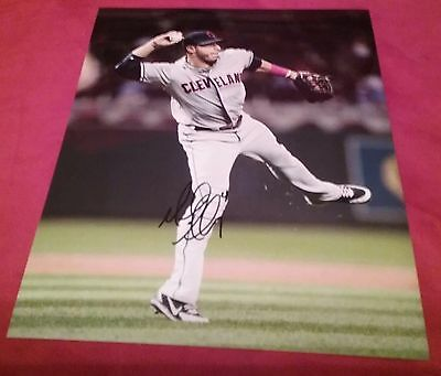 MLB HOF INDIANS MIKE AVILES AUTOGRAPHED SIGNED 8x10 BASEBALL PHOTO COA JSA PSA