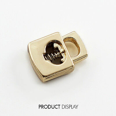10pcs Metal Square Stopper Toggle Buckle Clasp Cord Locks Drawstring Stop Button