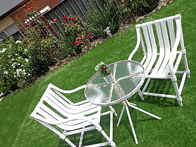 Outdoor 2pcs glass Table, Chair Set Furniture