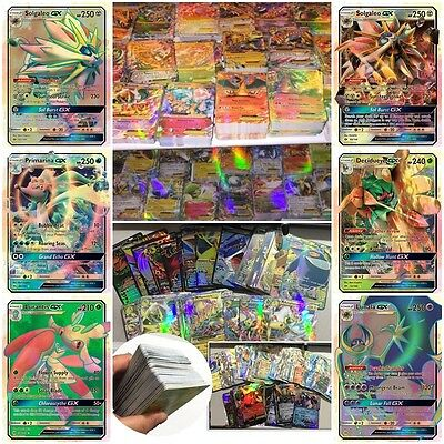Pokemon TCG 20/25/100 Pcs Pokemon GX EX Trainer CARDS Bundle: 80 Basic + 20 MEGA