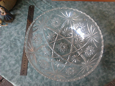 collectable glass bowl heavy