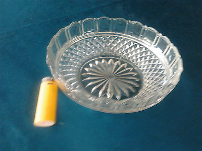 glass fruit dessert lolly bowl vintage collectable