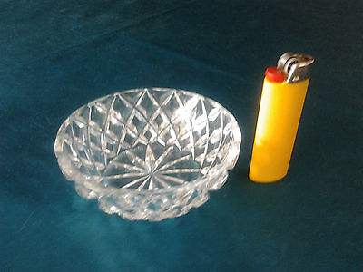 small crystal glass dish collectable