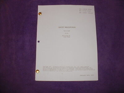 Ghost Whisperer Tv Pilot Script - Jennifer Love Hewitt David Conrad Aisha Tyler