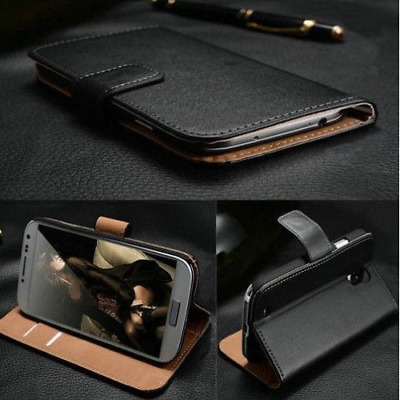 Luxury Real Genuine Leather Case Wallet Flip Shockproof Stand/Magnetic Function