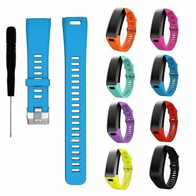 Silicone Garmin Wristband Strap Replacement for Garmin Vivosmart HR Watch W/Film