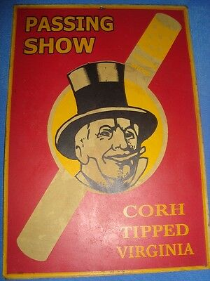 Old Vintage Passing Show Cigarette Advertisement Tin Sign Board from England 193