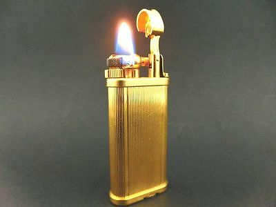 RARE Unique!! ALFRED DUNHILL BEAUTIFUL ALL-GOLD Rollagas Lighter & Paper SWISS